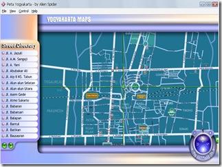 Peta Yogyakarta Download Map jalan kota wisata lengkap flash online