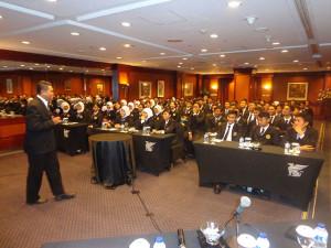Kuliah Umum sekolah Perhotelan Internasional Pushkom di hotel bintang lima JW Marriott